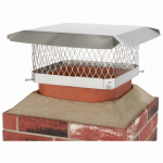 Hy-C SCSS1313 Chimney Cap, Single Flue, Stainless Steel, 13 x 13-In.