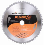 Evolution Power Tools RAGE255 Tungsten Carbide-Tipped Multi-Purpose Blade, 10-In., 28-Teeth