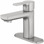 Homewerks Worldwide 116858 Nickel Single-Lever Faucet With Pop Up