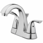 Homewerks Worldwide 116893 Chrome 2-Lever Lavatory Faucet With Pop Up