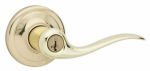 Kwikset 740TNL 3 SMT CP K4 Signature Brass Tustin Entry Lever With SmartKey