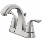 Homewerks Worldwide 116895L Brushed Nickel 2-Lever Lavatory Faucet With Pop Up