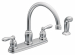 Moen/Faucets CA87888 Chrome 2-Handle High-Arc Kitchen Faucet