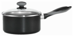 T-Fal/Wearever A7972484 Get-A-Grip Black 3-Qt. Aluminum Sauce Pan