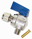 Dial Mfg 9443 Evaporative Cooler Angle Ball Valve, 1/4 x 1/8-In.