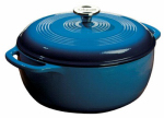 Lodge Mfg EC6D33 Dutch Oven, Blue Enamel/Cast Iron, 6-Qts.