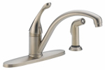 Delta Faucet 440-SS-DST Signature Series Stainless Steel Single-Handle Kitchen Faucet