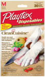 Edgewell Personal Care 06407 Disposables Clean Cuisine Food Prep Gloves, Medium, 30-Ct.