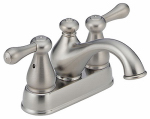 Delta Faucet 2578LFSS-278SS Leland Stainless Steel 2-Lever Lavatory Faucet
