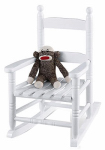 Jack Post KN-10W Knollwood Collection Child's Porch Rocker, White Hardwood