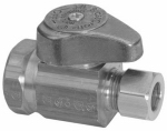 Brass Craft Service Parts G2R12X CD Chrome Straight Stop Valve, 1/2-In. x 3/8-In.
