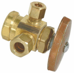 Brass Craft Service Parts R1700RX RD Brass Dual Outlet Stop Valve, 1/2-In. x 3/8-In. x 1/4-In.