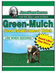Jonathan Green & Sons 10944 Seed Establishment Mulch,  Green, 250-Sq. Ft. Coverage, 15-Lbs.