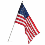 Annin Flagmakers 31813 U.S. Flag  & Pole Set, Nylon, 2.5 x 4 Ft.