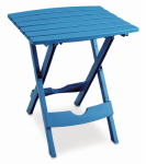 Adams Mfg 8500-21-3735 Patio Side Table, Quik Fold, Resin, Pool Blue
