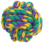 Multipet International 29002 4-Inch Medium Nuts For Knots Rope Dog Toy