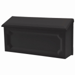 Solar Group WMH00B04 Windsor Wall Mailbox, Horizontal, Black Resin, 7.75 x 15 x 4-In.