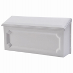 Solar Group WMH00W04 Windsor Wall Mailbox, Horizontal, White Resin, 7.75 x 15 x 4-In.