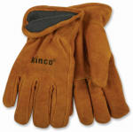 Kinco International 50RL M Full-Suede Cowhide Leather Gloves, Lined, Medium
