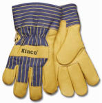 Kinco International 1928 L Large Men's Grain Pigskin Leather Palm Gloves