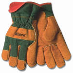 Kinco International 1721GR L Men's Suede Cowhide Leather Palm Gloves, Large