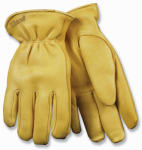 Kinco International 90HK M Men's Full-Grain Deerskin Leather Gloves, Medium
