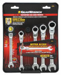 Apex Tool Group-Asia 50091 Flex Ratcheting Wrench Set, Metric 5-Pc.