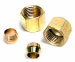 Dial Mfg 9311 2-Pk. 1/4-Inch Compression Nut & Sleeve