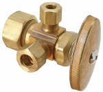 Brass Craft Service Parts CR1901LRX RD Brass Dual Outlet Stop Valve, 5/8 x 3/8 x 3/8-In.