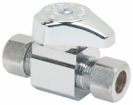 Brass Craft Service Parts G2CR11X CD Compression Outlet, Straight Valve, Chrome, 3/8-In. OD Compression x 3/8-In. OD