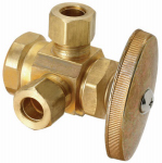 Brass Craft Service Parts R1701LRX RD Brass Dual Outlet Stop Valve, 1/2 x 3/8 x 3/8-In.