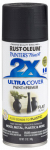 Rust-Oleum 249127 Painter's Touch 2X Spray Paint, Flat Black, 12-oz.