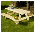 Universal Forest Products 106116 Patio Picnic Table Kit, 6-Ft.