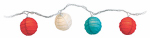 Luckytown Home Product AC-141-RWB-FS String Light Set, Red, White & Blue Paper Ball, 10-Light