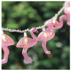 Luckytown Home Product AC-268-FS String Light Set, Pink Plastic Flamingo, 10-Light