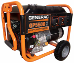 Generac Power Systems 5939 GP Series Portable Electric Generator With Wheel Kit, 5500/6875-Watt