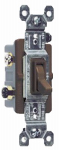 Pass & Seymour 663GCC10 3-Way Toggle Switch, Brown, 120-Volt, 15-Amp