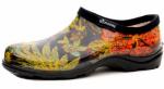 Principle Plastics 5102BK08 Women's Garden Shoe, Black Print Rubber, Size 8