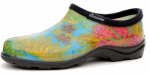 Principle Plastics 5102BL06 Women's Garden Shoe, Blue Print Rubber, Size 6