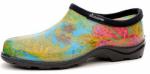 Principle Plastics 5102BL10 Women's Garden Shoe, Blue Print Rubber, Size 10