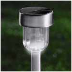 Jiawei Technology MS2M-N1-SS-T15 Brushed Stainless-Steel Stake Solar Pathway Light