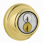 Kwikset 816 3 RCAL RCS Bright Brass SmartKey Control Single Cylinder Deadbolt