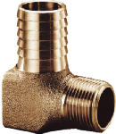 Water Source HE7501NL Hydrant Elbow, Brass, 3/4 x 1-In.