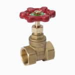 B&K 100-405NL Threaded Gate Valve, Lead-Free Brass, 1-In.