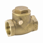 B&K 240-2-1-1 Swing Check Valve, Threaded, Lead Free, Brass, 1-In.