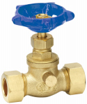 "Homewerks Worldwide 220-1-12-12 1/2"" CMP Brass Stop Valve"