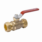 B&K 111-1-34-34 Ball Valve, Lead Free, 3/4-In. Compression
