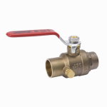B&K 107-553NL Stop & Waste Ball Valve, Lead Free, Forged Brass, 1/2-In.