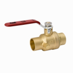 B&K 119-4-34-34 Stop & Waste Ball Valve, Lead Free, Forged Brass, 3/4-In.