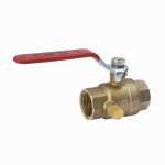 B&K 119-2-12-12 Stop & Waste Ball Valve, Lead Free, Forged Brass, 1/2-In. Threaded
